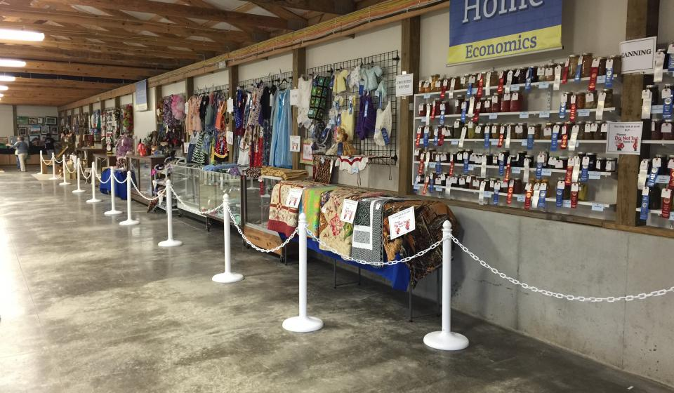 home economic entries at county fair
